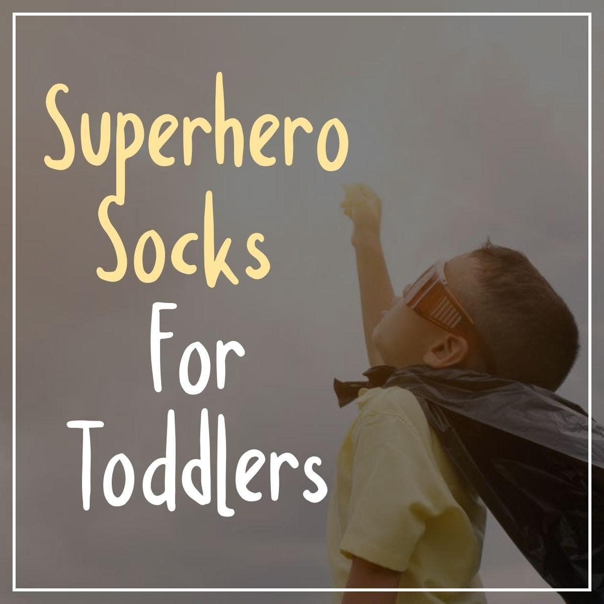 Superhero Socks For Toddlers